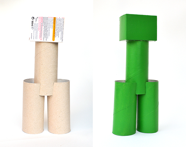 toilet roll minecraft craft for kids