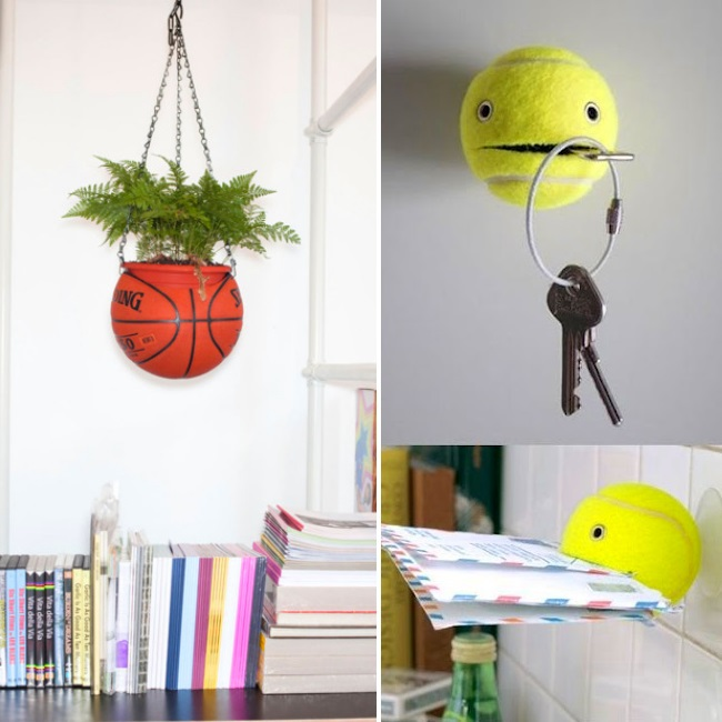 upcycle balls use toys in home DIY decor