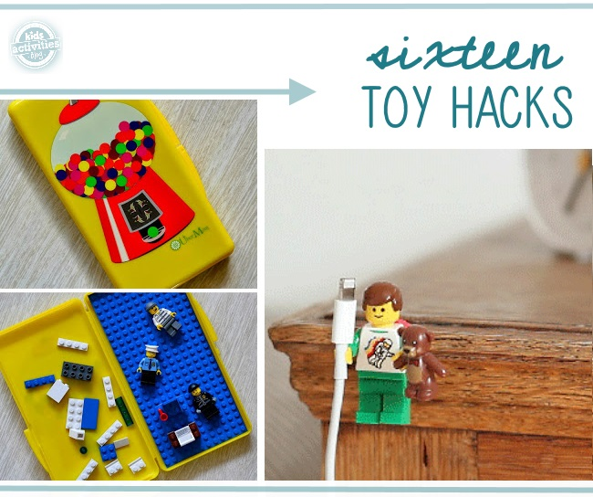 ways to use legos in daily life... and sixteen other toy hacks