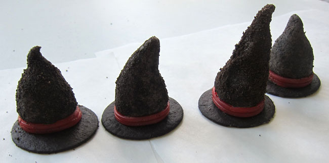 Witch Hat Cookies and Cream Truffles