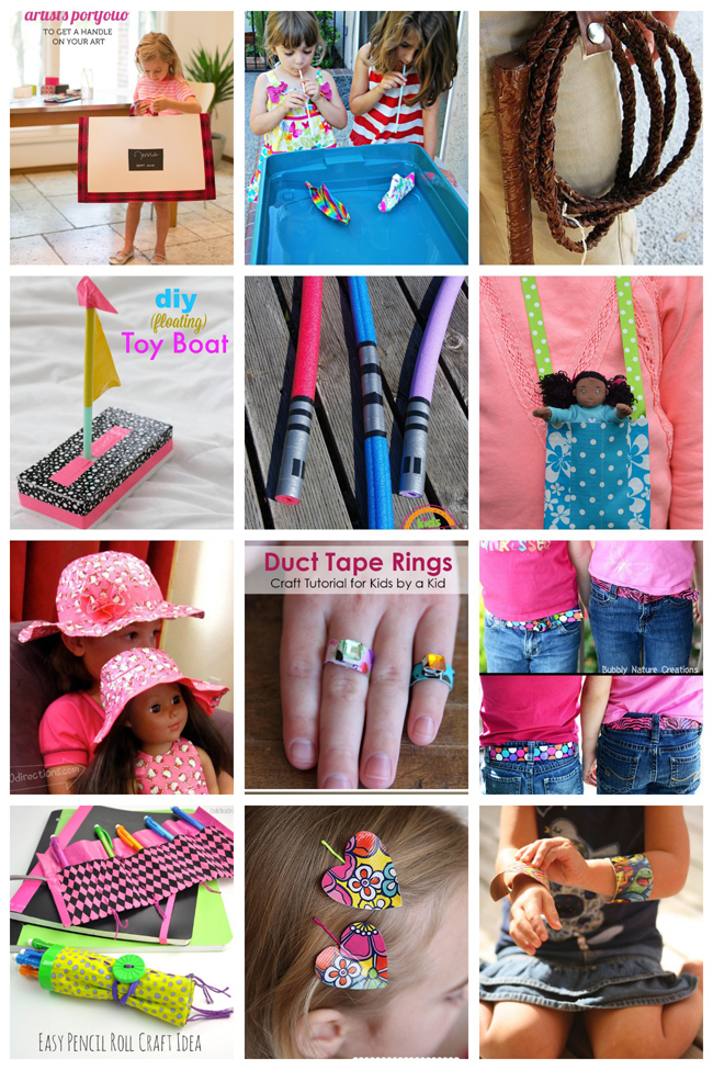 20 Duct Tape Crafts the Kids Will