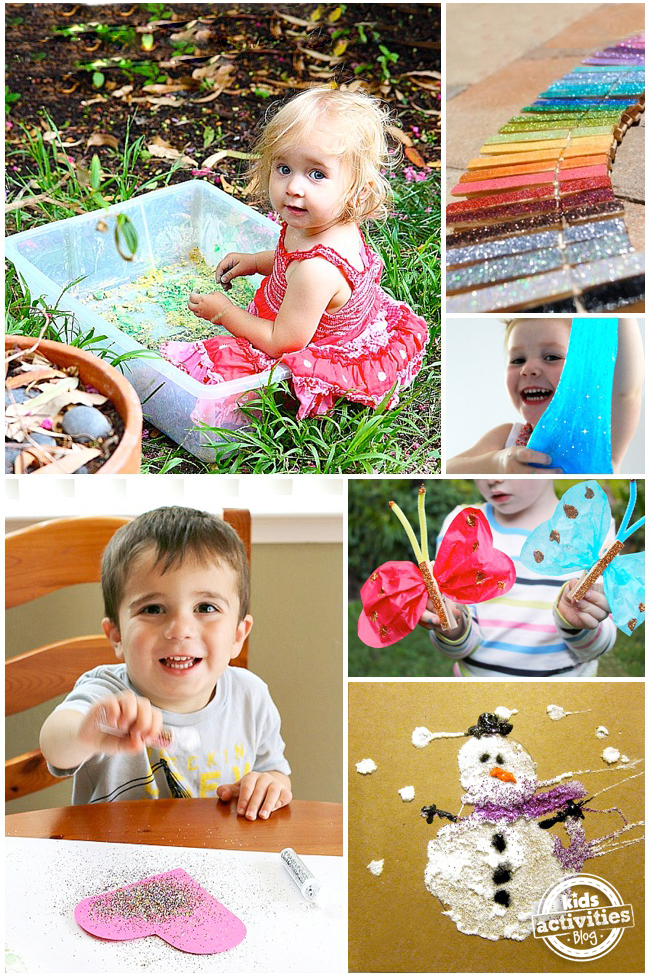 25 glitter crafts add a little sparkle to your kids for Glitter crafts for kids