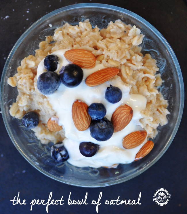 50 different ingredient options that you can add to create the perfect bowl of oatmeal for breakfast