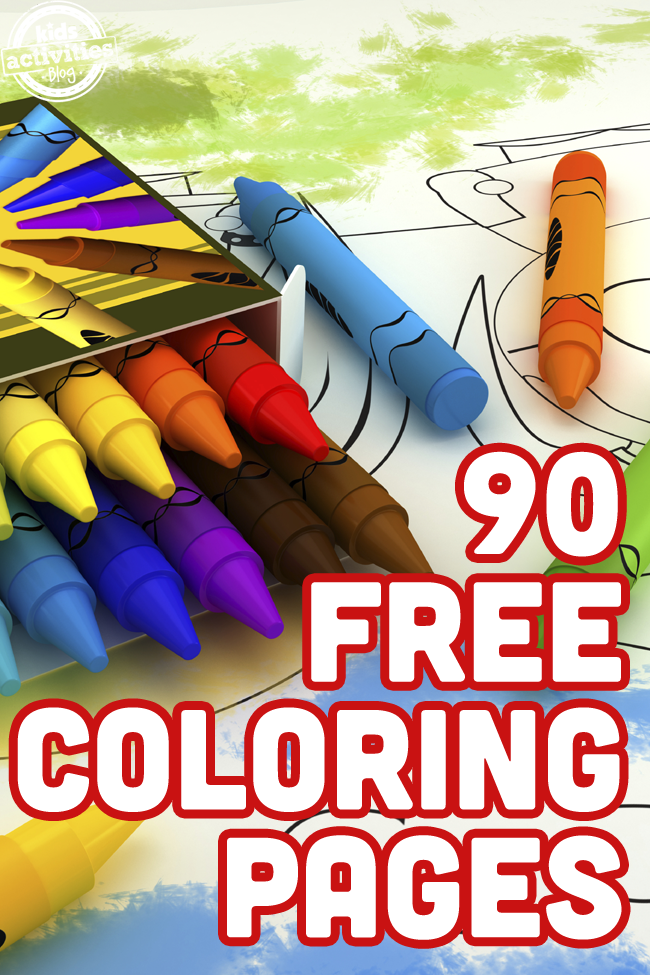 90 Free Coloring Pages for Kids