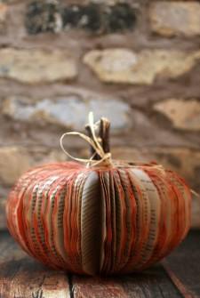 Make a Book Pumpkin – Frugal Fall Craft
