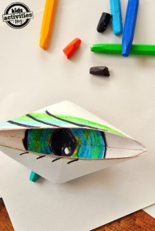 Blinking Origami Eyeball
