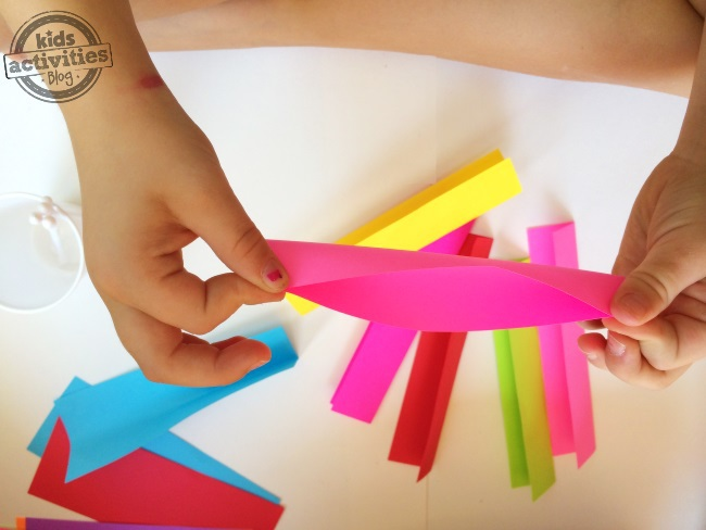 Folding is a great way for kids to practice hand and eye coordination as well as their pincher grasp