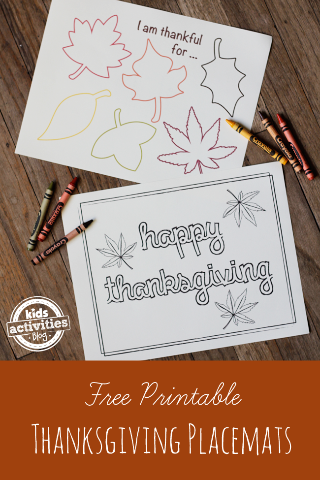 graphic relating to Printable Thanksgiving Placemat referred to as Free of charge Printable Thanksgiving Placemats