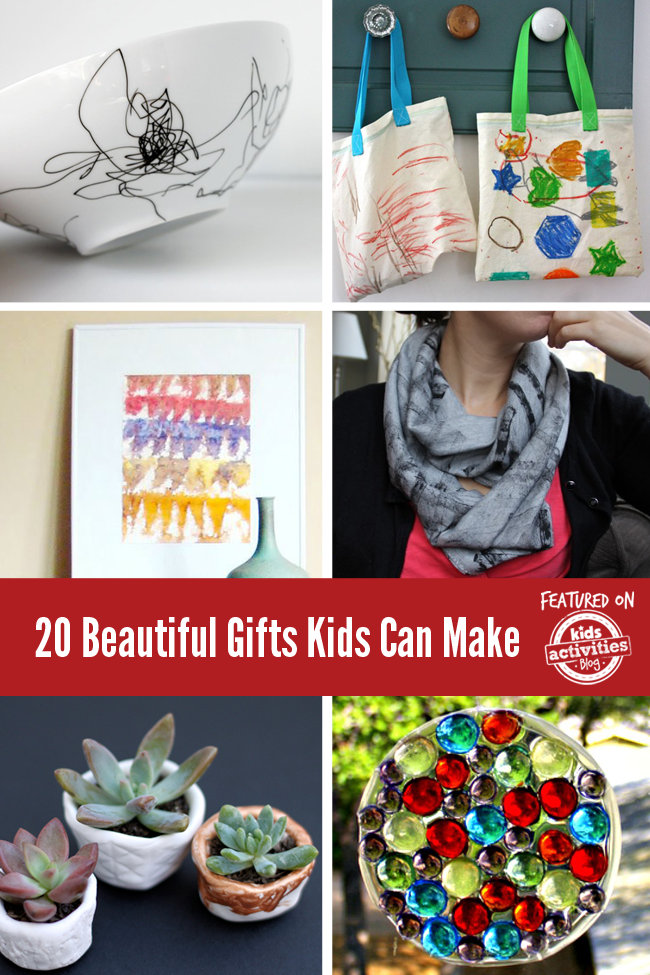 20 beautiful gifts kids can make