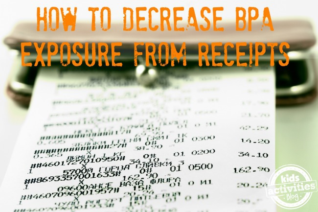 How to decrease BPA Exposure from Receipts
