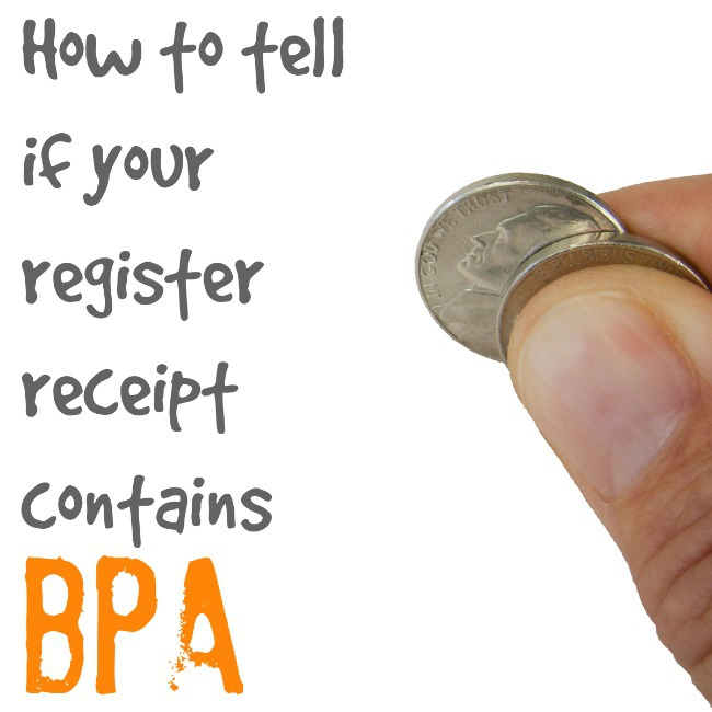 How to tell if your register receipt contains BPA