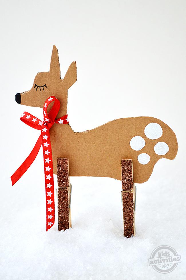 Christmas Crafts For Kids Simple Cardboard Reindeer