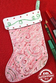 Decorate a Stocking printable