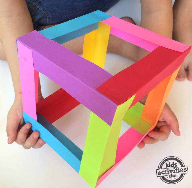 Make a cube with paper slips a super cool kids craft
