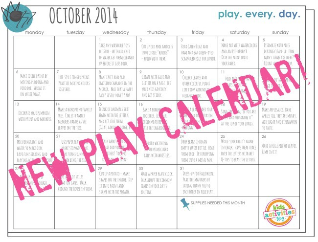 New Play Calendar - Oct