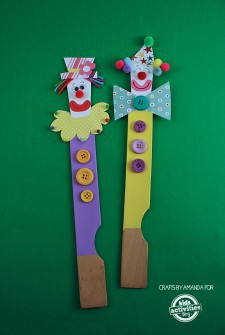 Paint Sticks Clown Puppets