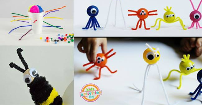 20 Totally Awesome Pipe Cleaner Crafts