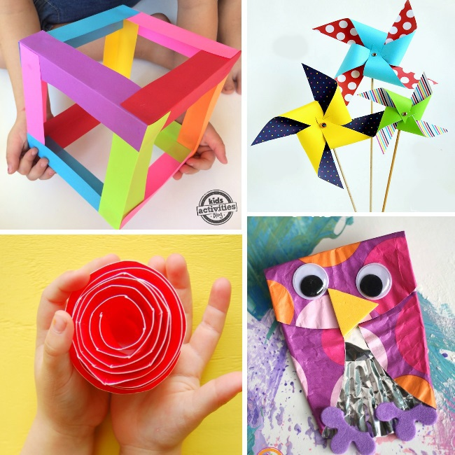 TONS of crafts for kids using paper