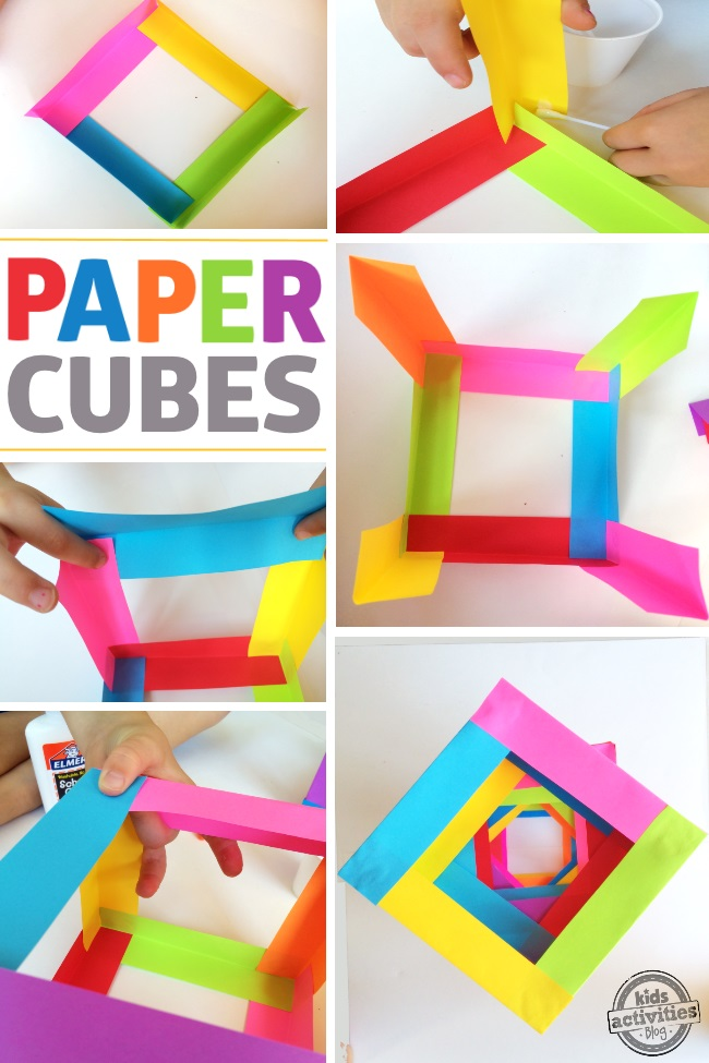 Kids craft paper boxes for Cool paper projects