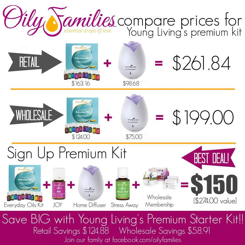 Young Living Oily Families Compare Prices