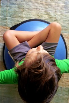 a bosu is great for exercise at home