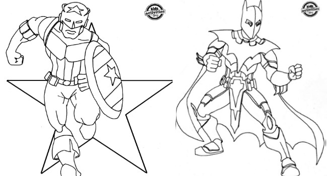 Coloring Pages For Adults Superheroes : Superhero inspired coloring pages