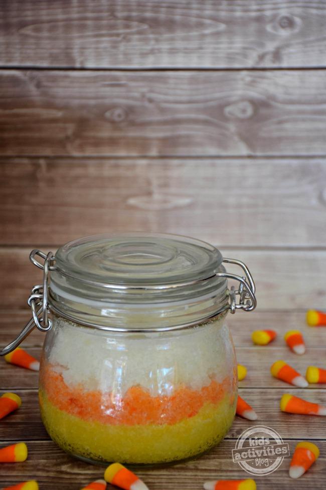 Make Candy Corn Sugar Scrub The