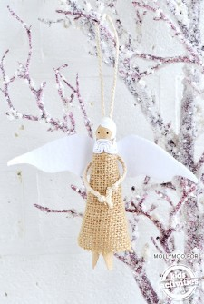 Guardian Angel Peg Doll – DIY Christmas Tree Decoration