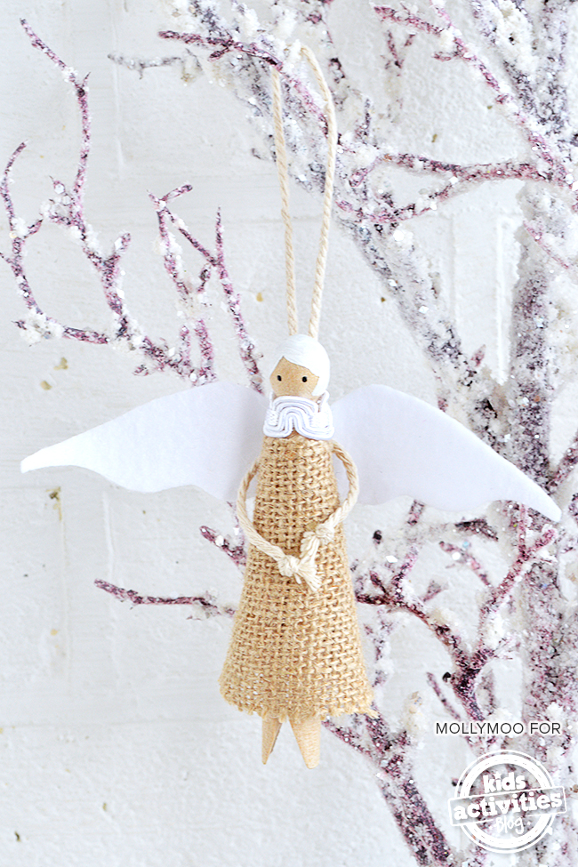 Guardian Angel Peg Doll Diy Christmas Tree Decoration