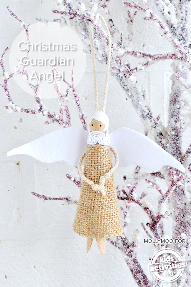 Guardian angel peg doll diy christmas tree decoration for Angel christmas tree decoration
