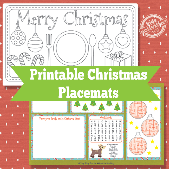 Placemat Template Christmas images