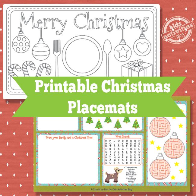 christmas todler photo ideas - Printable Christmas Placemats Free Kids Printable