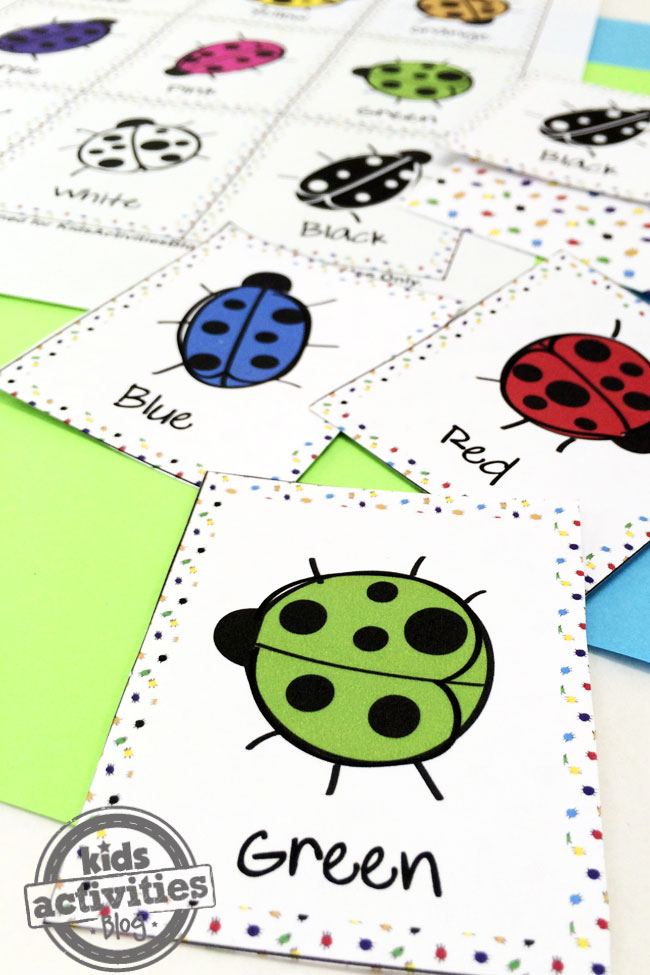 Play a Memory Game with Color Bugs designed by Jen Goode