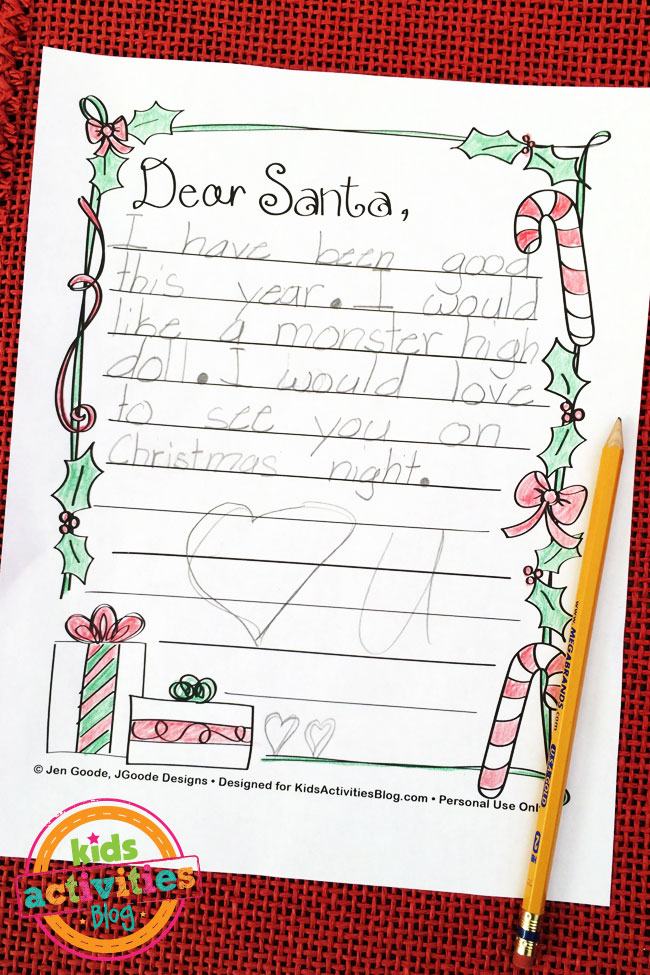 Letter to Santa designed by Jen Goode