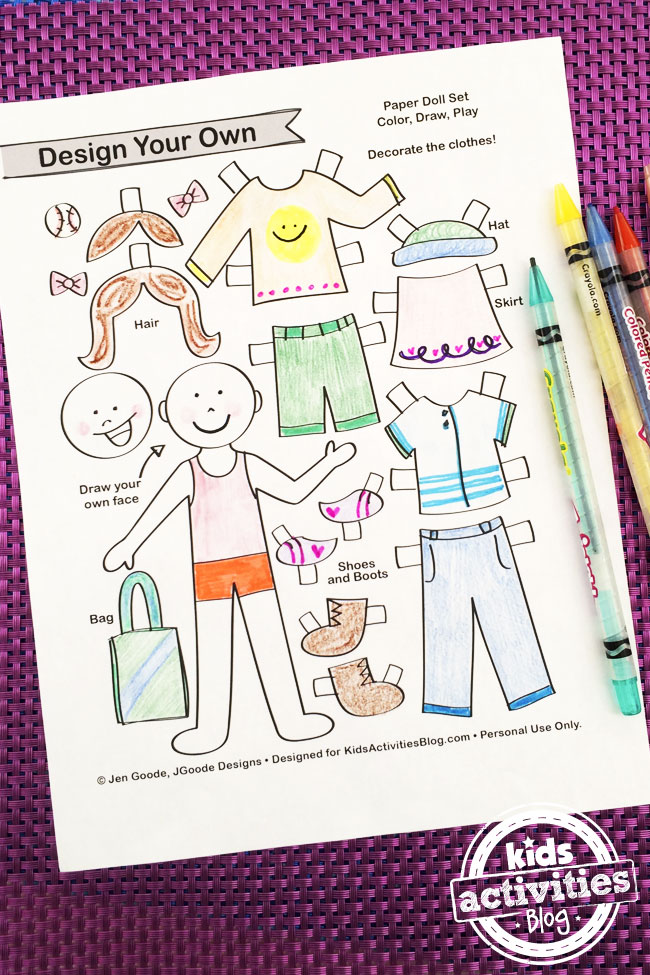 Design Your Own Paper Dolls Printable