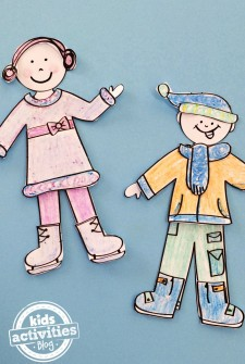 Design Your Own Winter Paper Doll Set Kids Printable