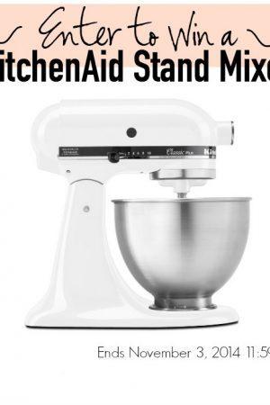 enter to win a KitchenAid stand mixer