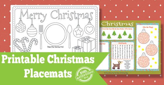 Printable Christmas Placemats Free