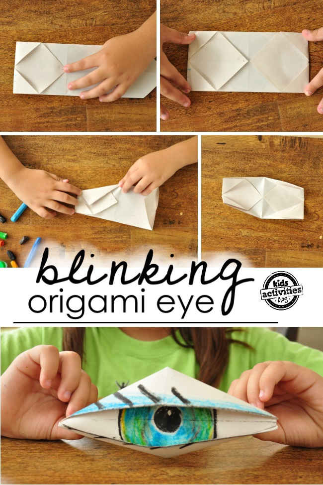 final instructions on how to create an origami eyeball