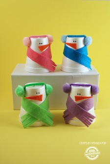 Snowman Craft from Foam Cups