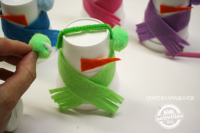 Snowman Craft from Foam Cups