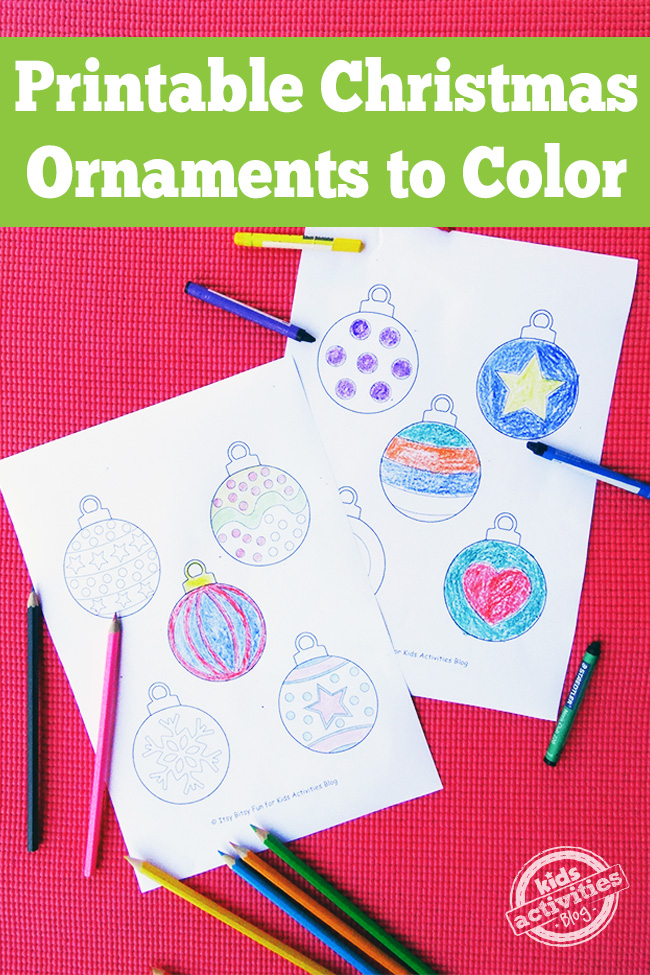 printable christmas ornaments  free kids printable