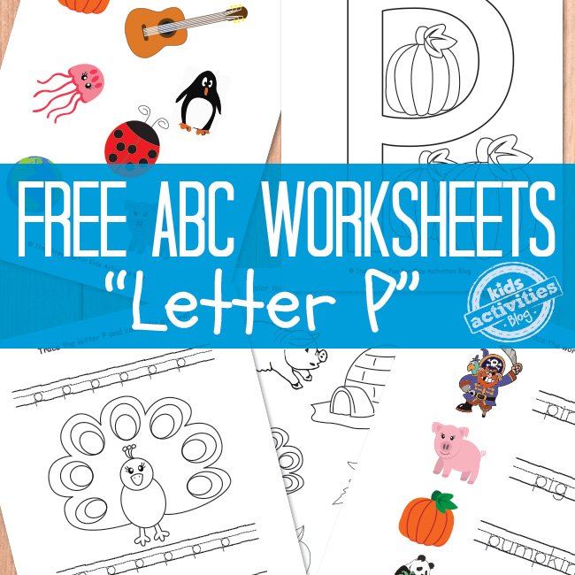 Letter P Worksheets Free Printable
