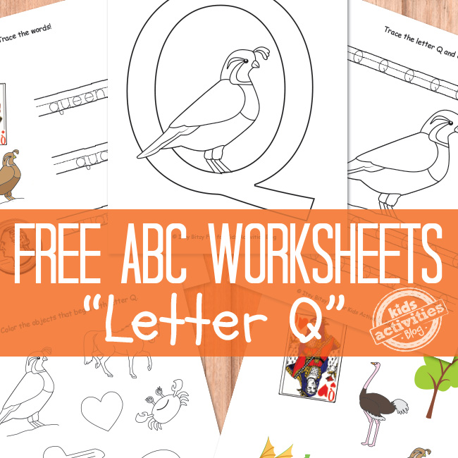 Letter Q Worksheets Free Printable