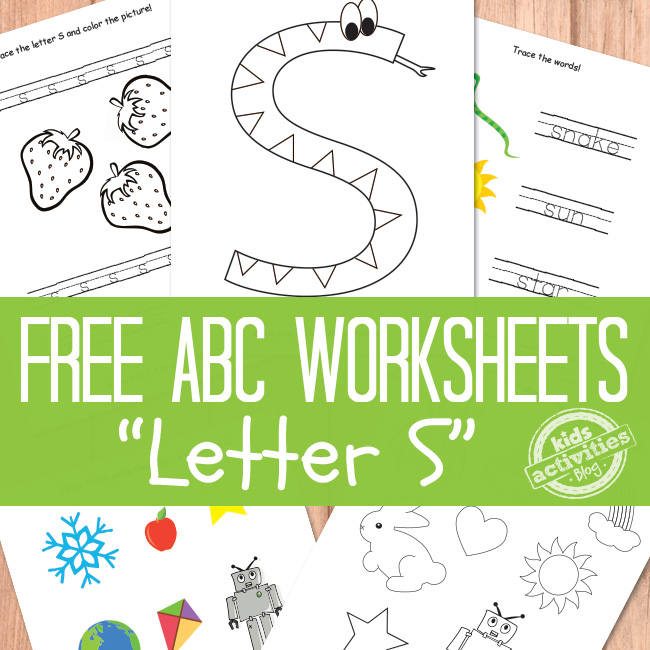 Letter S Worksheets Free Printable