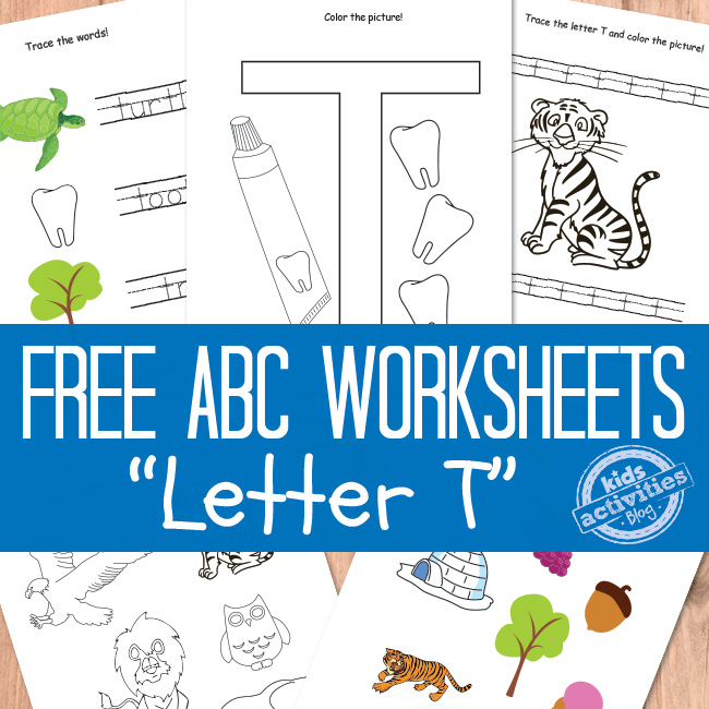 Letter T Worksheets Free Printable