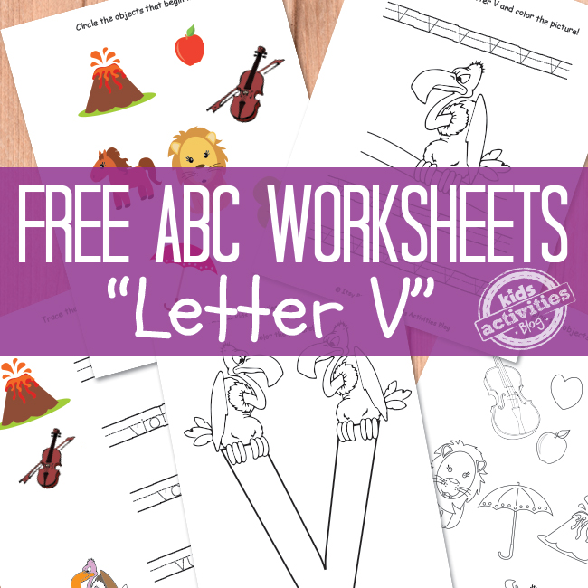 Letter V Worksheets Free Kids Printable