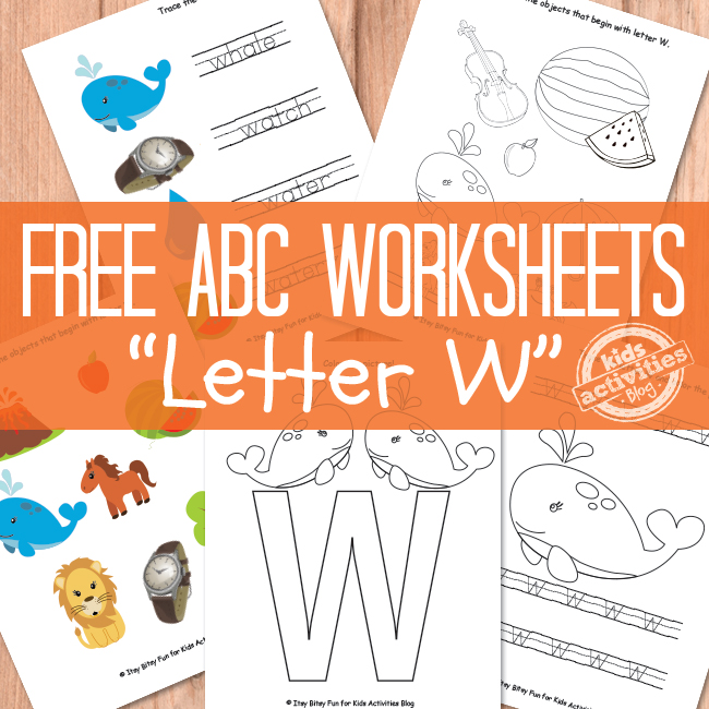 Letter W Worksheets Free Kids Printable
