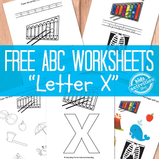 Letter X Worksheets Free Kids Printable – Letter X Worksheets