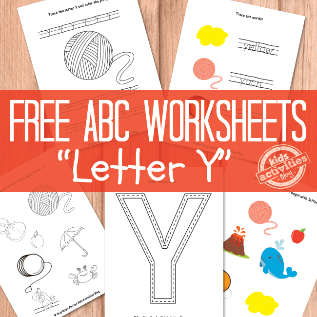 Free Printable Letter Y Worksheets